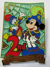 Disney Tokyo Disney Sea 2nd Anniversary Gift Green Mickey Mouse Donald Duck Pin