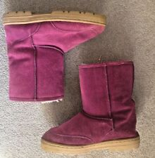 Ladies Genuine Sheepskin Hot Pink Chooka Boots Size 8