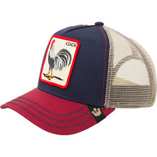 "Goorin Bros. Animal Farm Trucker Snapback Hat Cap rooster Navy/Red/Tan/""Cock"""