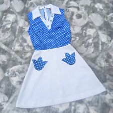 Vintage 60s Kitsch Mini Tennis Dress Womens Small