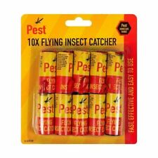1, 10 Fly Insect Catcher Killer Tape Strip Pest Bug Wasp Ants Window Office Home