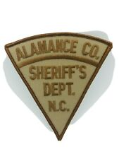 North Carolina, Alamance County Sheriff's Dept. Merrowed Cheese-cloth Back Patch