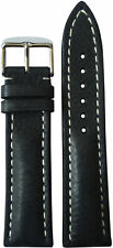 22x18 RIOS1931 for Panatime Charcoal Watch Strap w/Buckle for Breitling