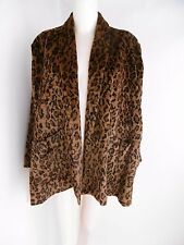 Vintage Norma Kamali Faux  Leopard Coat