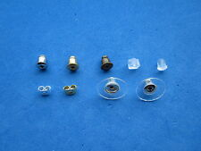 Silver/Gold /Bronze/Clear Bullet/Butterfly/Flower Push on Earring Backs/Stoppers