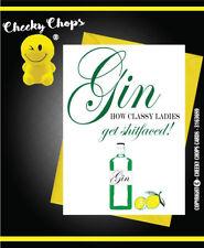 Greetings Card Birthday Card Fun Joke Quirky Naughty Cheeky Chops - GIN C118