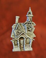 Halloween Haunted House Pin | Halloween Jewelry | Haunted House | Pewter