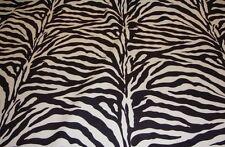 "Velvet Zebra Brown Plush polyester Upholstery grade Fabric by the yard 56"" wide"