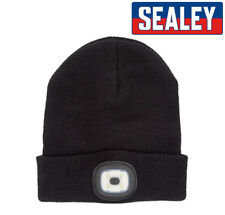 Sealey Rechargeable 3.7v SMD LED Wolly BEANIE HAT Worklight  Li-Po upto 5h 120lm
