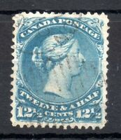 Canada 1868 12 1/2c blue good used SG60 WS19403