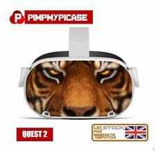 More details for premium laminated vinyl skin sticker decal for oculus quest 2 tiger  uk made