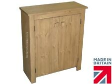 Solid Pine Cupboard 900mm X 750mm Handcrafted Waxed 2 Door Storage Cabinet Kennelworth Oak Wax