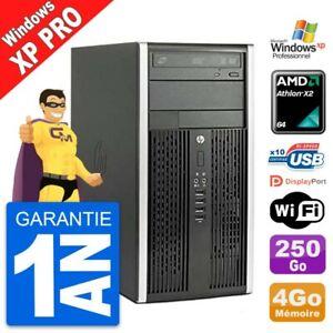 PC Tour HP 6005 Pro CMT AMD Athlon II X2 RAM 4Go Disque Dur 250Go Windows XP