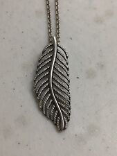 PANDORA STERLING SILVER LIGHT AS A FEATHER  NECKLACE