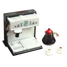 5X(Dollhouse Miniature Kitchen Metal Expresso Coffee Machine with Coffee X1F7)