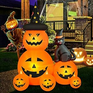 6 FT Halloween Inflatable Decorations Spooky Ghost Pumpkin Lighted and