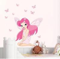 US STOCK Removable Wall Sticker Fairy Elf Decal For Kids Nursery Baby Room Girl
