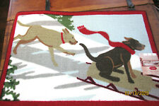 ACCENT RUG 20 X 30 NON SLIP SKID POLYESTER DOGS LABS SLEDDING SLED SNOW ROTTWEIL
