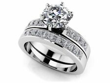 SALE!! WEDDING ENGAGEMENT RING Ten Bridal Channel Set Diamond Ring 14K GOLD