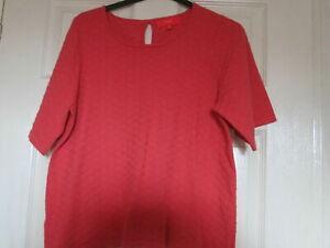 Ladies T Shirt Next 12 orange Short Sleeve Casual