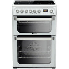Hotpoint HUE61PS  60cm Electric Double Cooker with Ceramic Hob - White