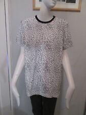 """Eleven paris-noir/blanc, à encolure ras-du-cou """"Craquelé"""", T-shirt Taille M 100% coton"""