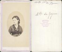 Lebiez, Angers, Mademoiselle de Gorgeau ou Gorzeau, circa 1860 CDV vintage album