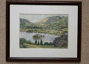 Lake District W/C - Grasmere from Red Bank - Joseph Cassell Hutchinson 1893-1976