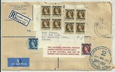 1959 LONDON TO MAKY STAMPS CANADA REGISTERED 9/9d POSTAGE TANGIER OVERPRINTS