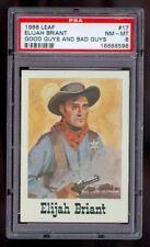1966 Leaf Good Guys And Bad Guys Elijah Lege Briant Cowboy #17 PSA 8 Graded Card
