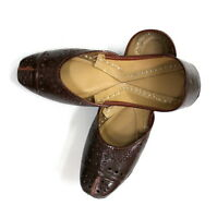Nice Women Pure Leather Jutti Mojari Sandle Shoe Handmade Traditional US Punjabi