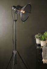Vintage Retro Industrial Style Tripod Floor Lamp LED Light Metal Standing Large