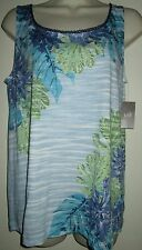 J JILL Embroidered Print TANK TOP S Shirt SMALL NEW NWT $49 FLORAL Cotton