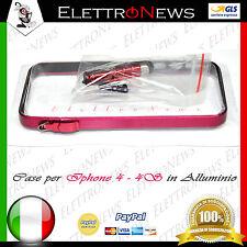 Frame Sottile Alluminio per Iphone 4 - 4s Metallo Bumper Cover Case Rosa