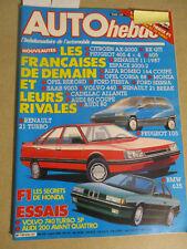 AUTO HEBDO: n°516: 03/04/1986: AUDI 200 AVANT QUATTRO - VOLVO 740 TURBO - BMW635
