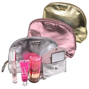 Victoria's Secret Gift Set Bronzer Gloss Bag Mirror Kit Eau De Parfum Bombshell