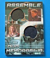 2012 UPPER DECK MARVEL AVENGERS ASSEMBLE ~ DUO MEMORABILIA CARD #AD-16