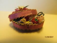 DOLLHOUSE MINIATURE  INCH SCALE  SEWING BASKET