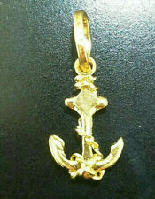 14 Karat Yellow Gold Anchor Charm Pendant