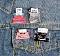 Typewriter Writer - Retro Vintage  - Enamel Pin Pins Badge Badges Funny Quotes