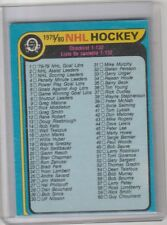 1979-80 OPC O Pee Chee Checklist Unmarked #131 Wayne Gretzky Rookie Set