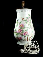 More details for vintage c 1950s hand decorated big chinese ceramic vase repurposed as table lamp