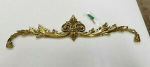 Brass Acanthus Leaf Gilt Scroll Above Over Picture Door Mirror Topper Wall Decor
