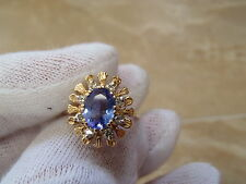 LeVian 14k Yellow Gold Natural Tanzanite with Diamond Accent Ring