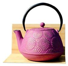 KIKU cast iron tea pot  1.2L Mulberry on gold colour Tetsubin Japanese style