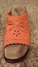NEW Size 7M Orange White Mt Brand Clogs