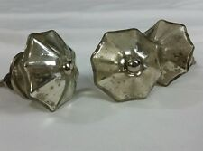"Three (3) Shell Sand Dollar Shaped Hollow Glass 1 3/4"" Cabinet Pull Knobs"