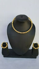 Indian Fashion Gold Plated Necklace Ethnic Bollywood Designer Choker Jewelry Set