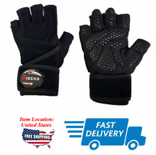 🥇Weight Lifting Fitness Glove Gym Training Exercise Workouts Black US SHIP🥇