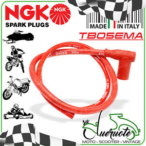 CAVO CANDELA NGK SILICONE PIPA FILO ROSSO UNIVERSALE MOTO SCOOTER GO KART RACING